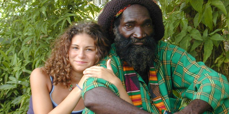 Alicia & Rasta Friend