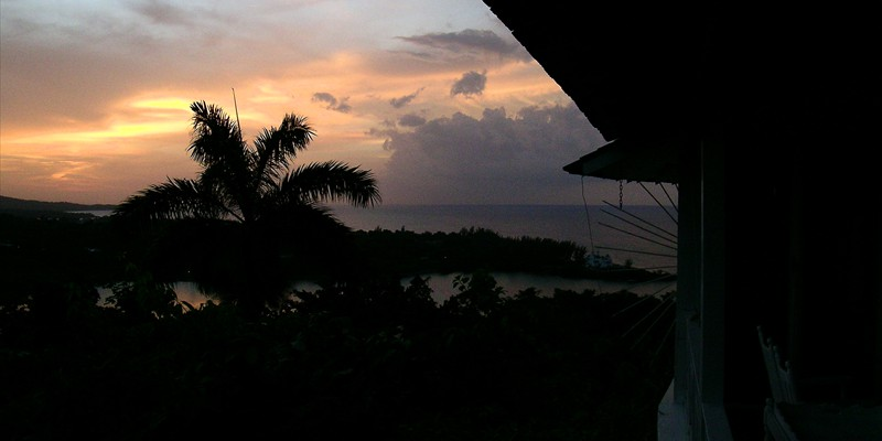 Port Antonio Sunset at The Fan Villa