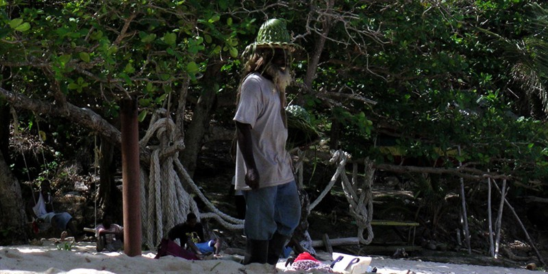 Rasta Man at Winnifred Beach